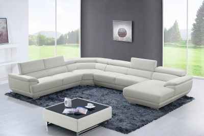 Living Room Furniture Sectionals 430 Sectional Off White