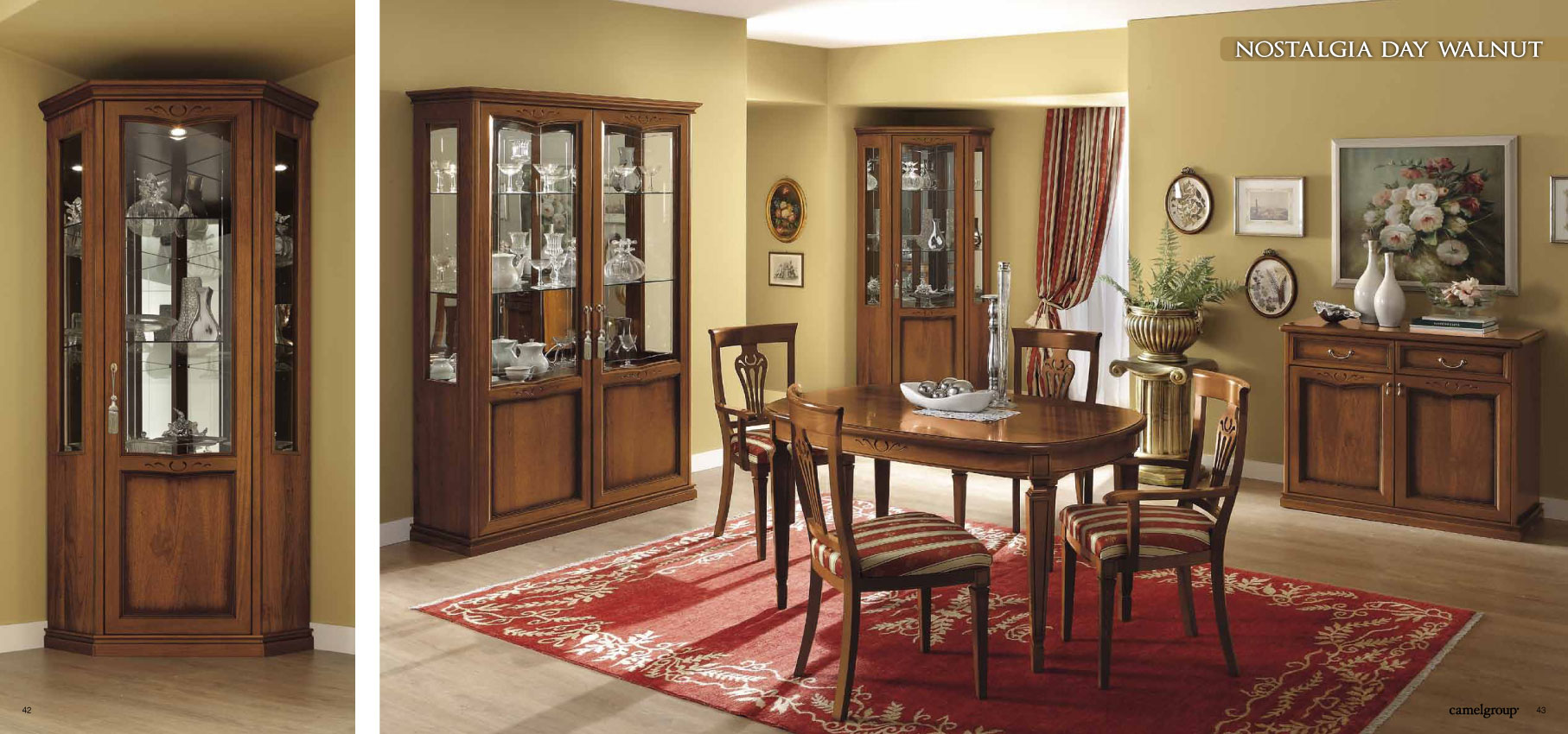 nostalgia day walnut camel traditional collection italy collections. Black Bedroom Furniture Sets. Home Design Ideas