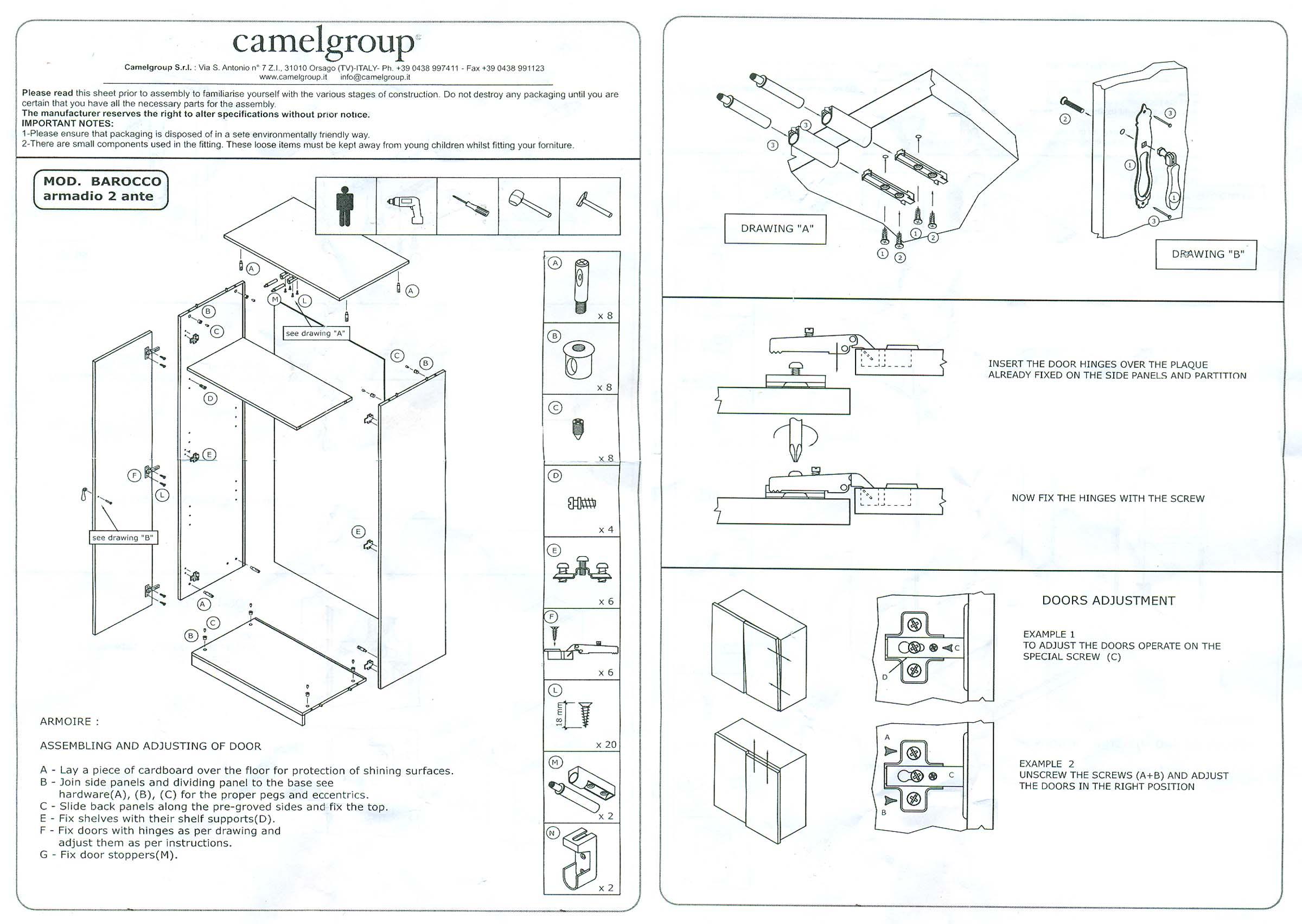 Charmant Assembling Instruction For 2 Door Wardrobe