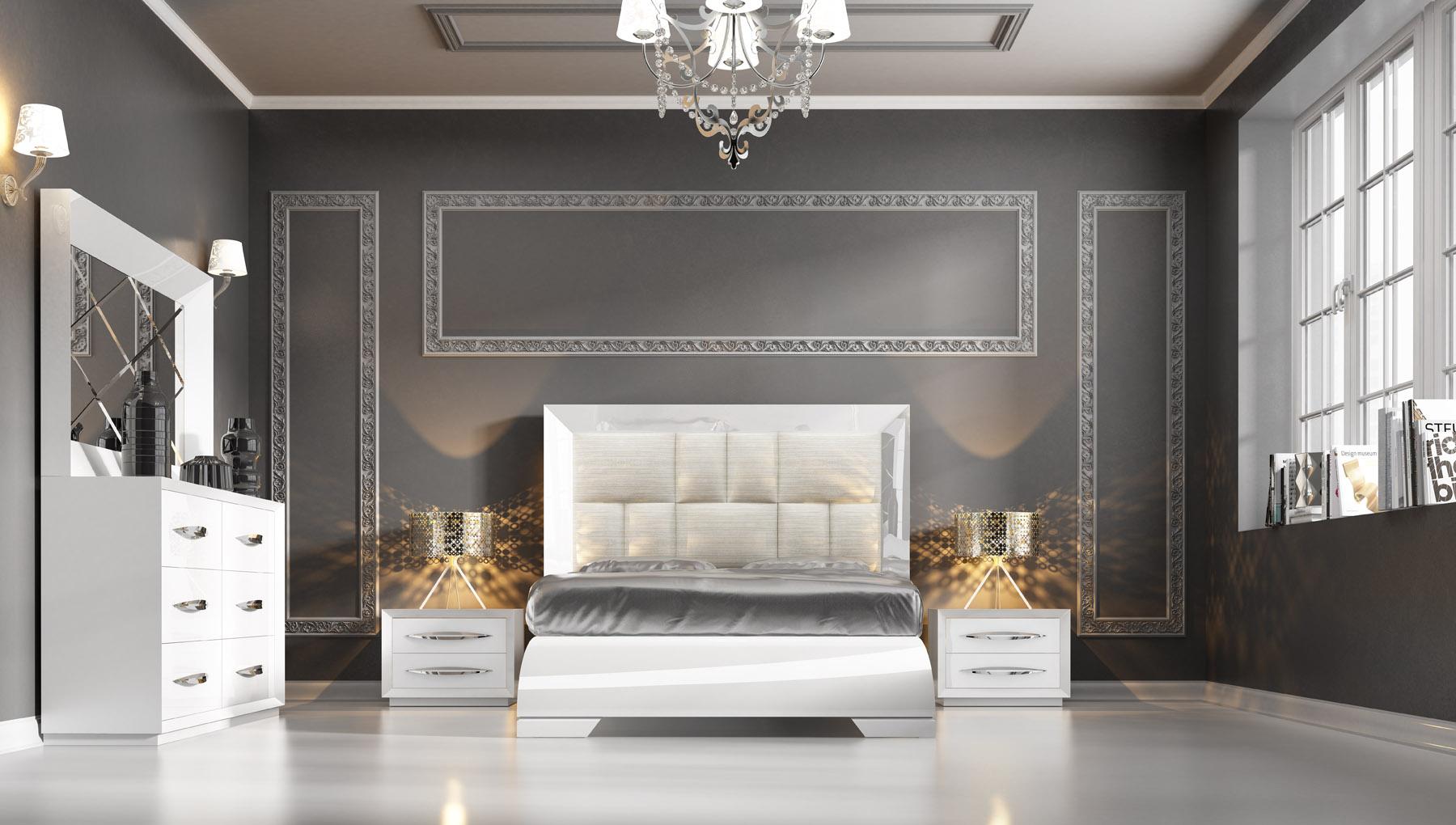 Carmen White Modern Bedrooms Bedroom Furniture