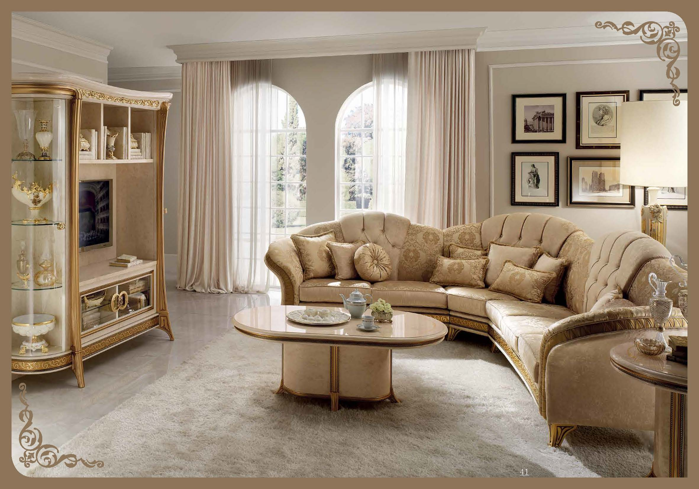 Melodia lounge arredoclassic living room italy collections for Classic furniture design