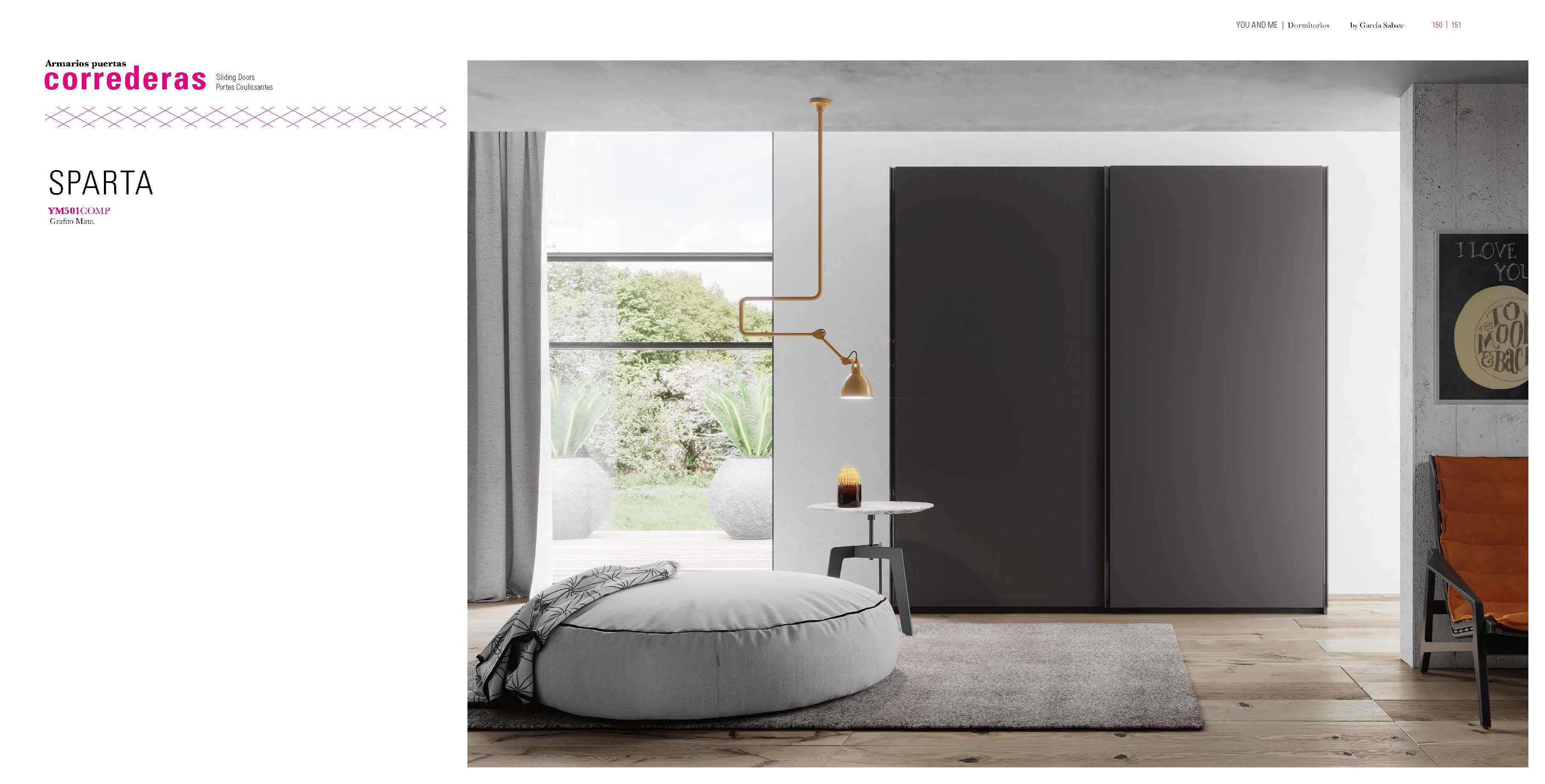 Brands Garcia Sabate, Modern Bedroom Spain YM501 Sliding Doors Wardrobe