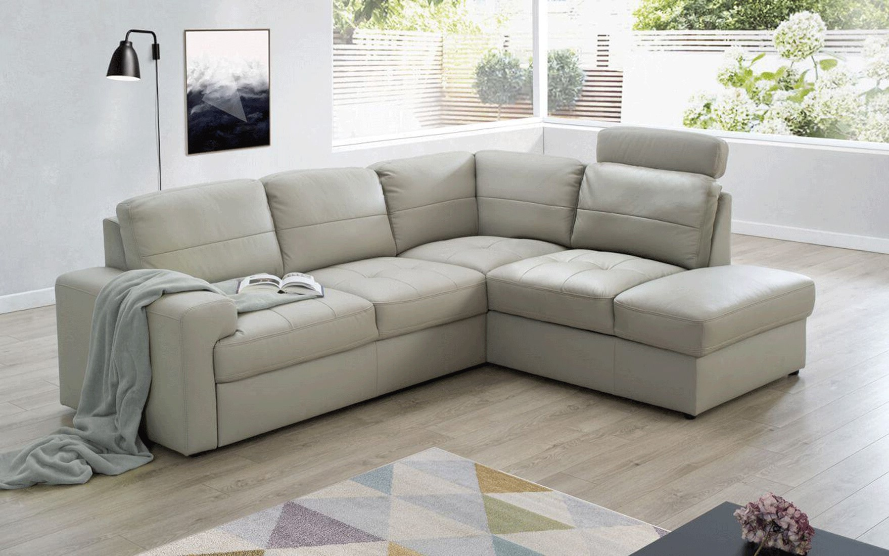 Living Room Furniture Sectionals Ella Sectional Right w/Bed & Storage