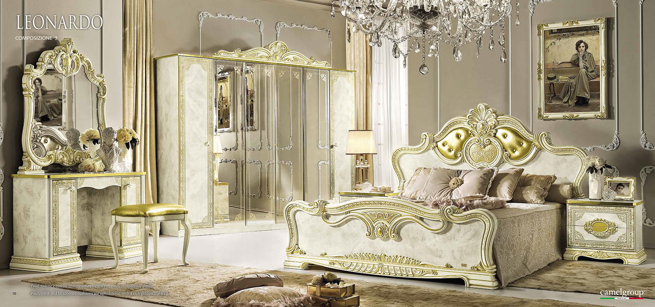 Leonardo Bedroom Additional Items, Camel Gold Collection, Italy ...