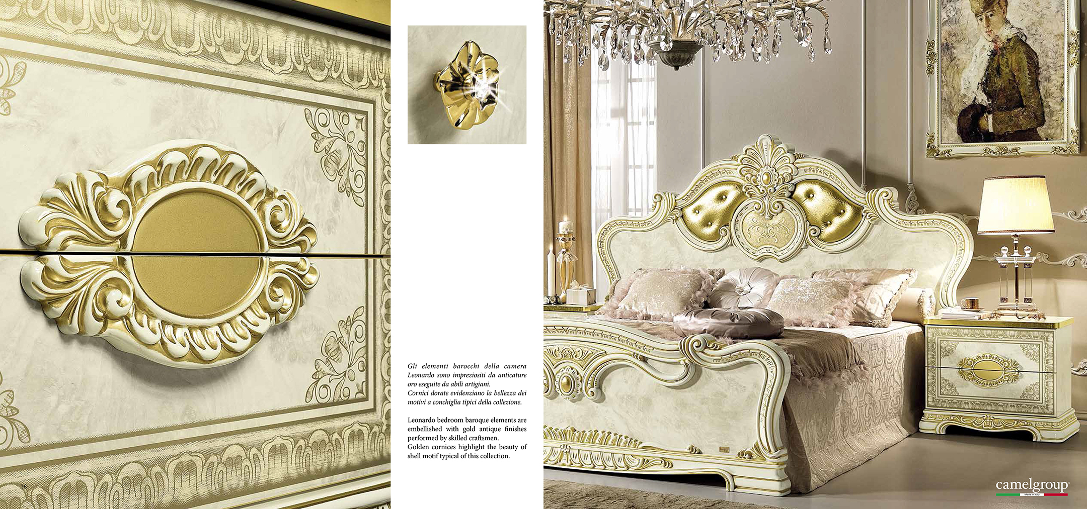 classical italian bedroom set. Leonardo Bedroom Additional Items. Collections Camel Gold Collection, Italy Items Classic Classical Italian Set