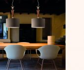 Brands Euroluce Dahlia Collection Dahlia S1 shade grey